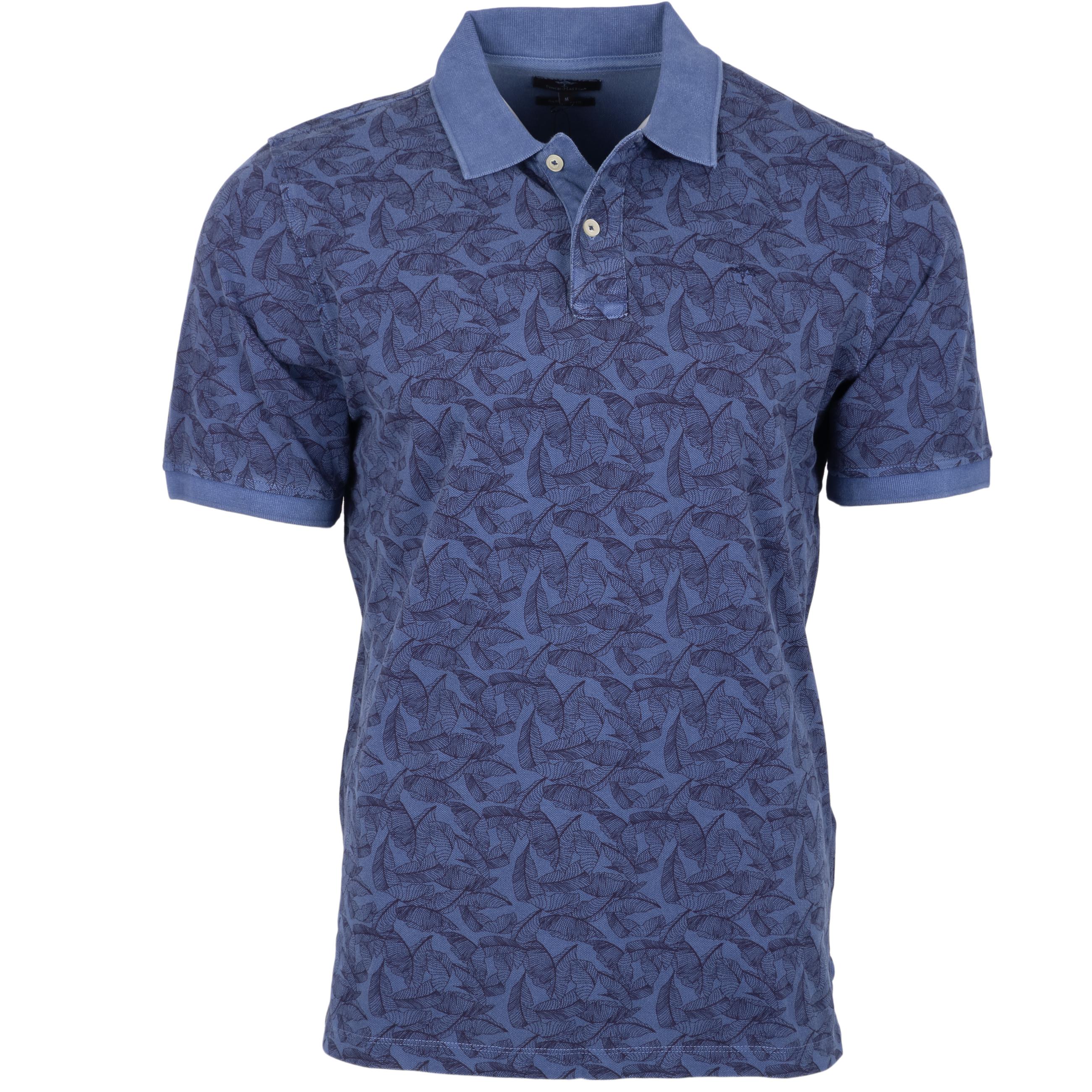 Fynch-Hatton Polo Garment Dyed - dunkelblau 3XL