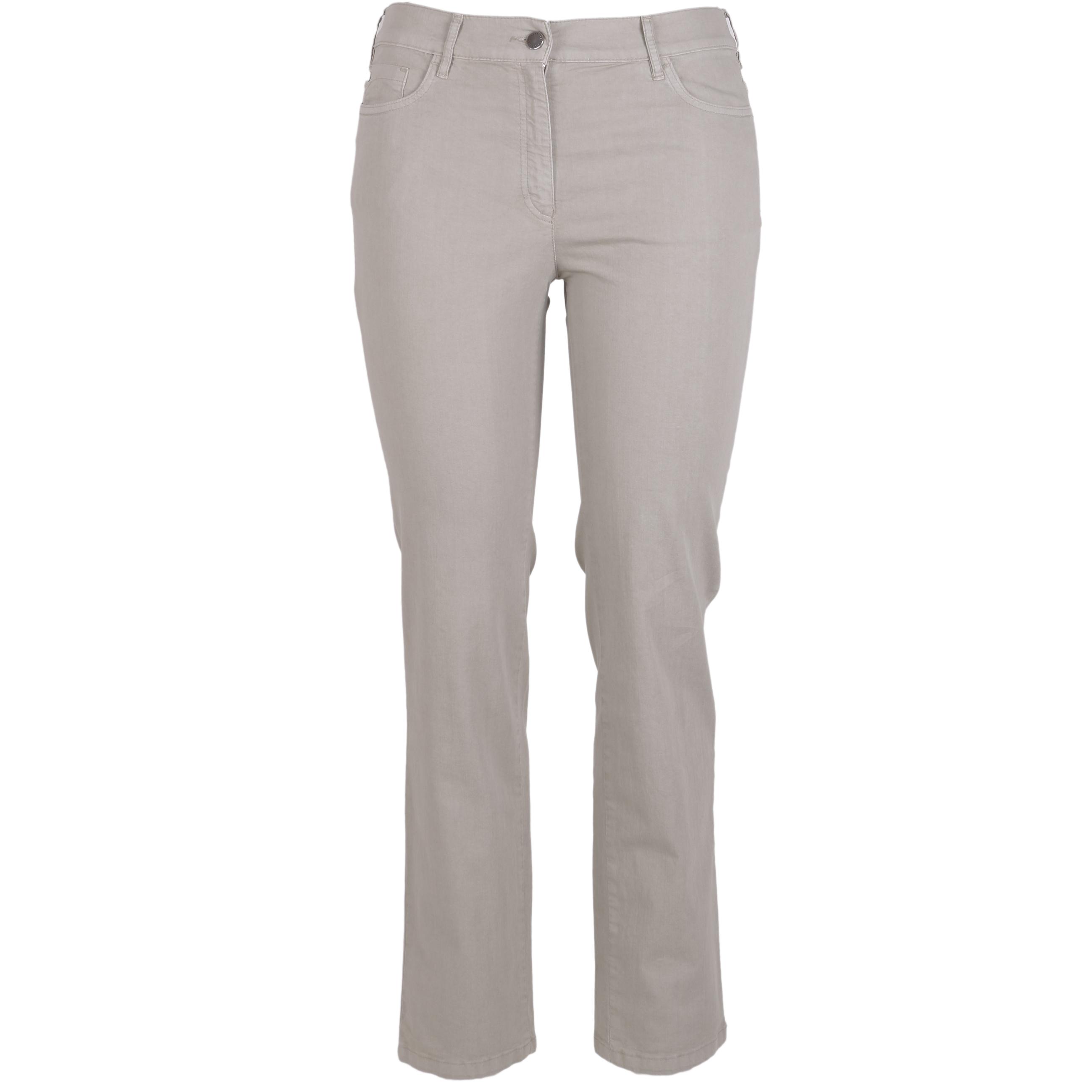 Zerres Damen Jeans Greta sommerliche Qualität - khaki 20