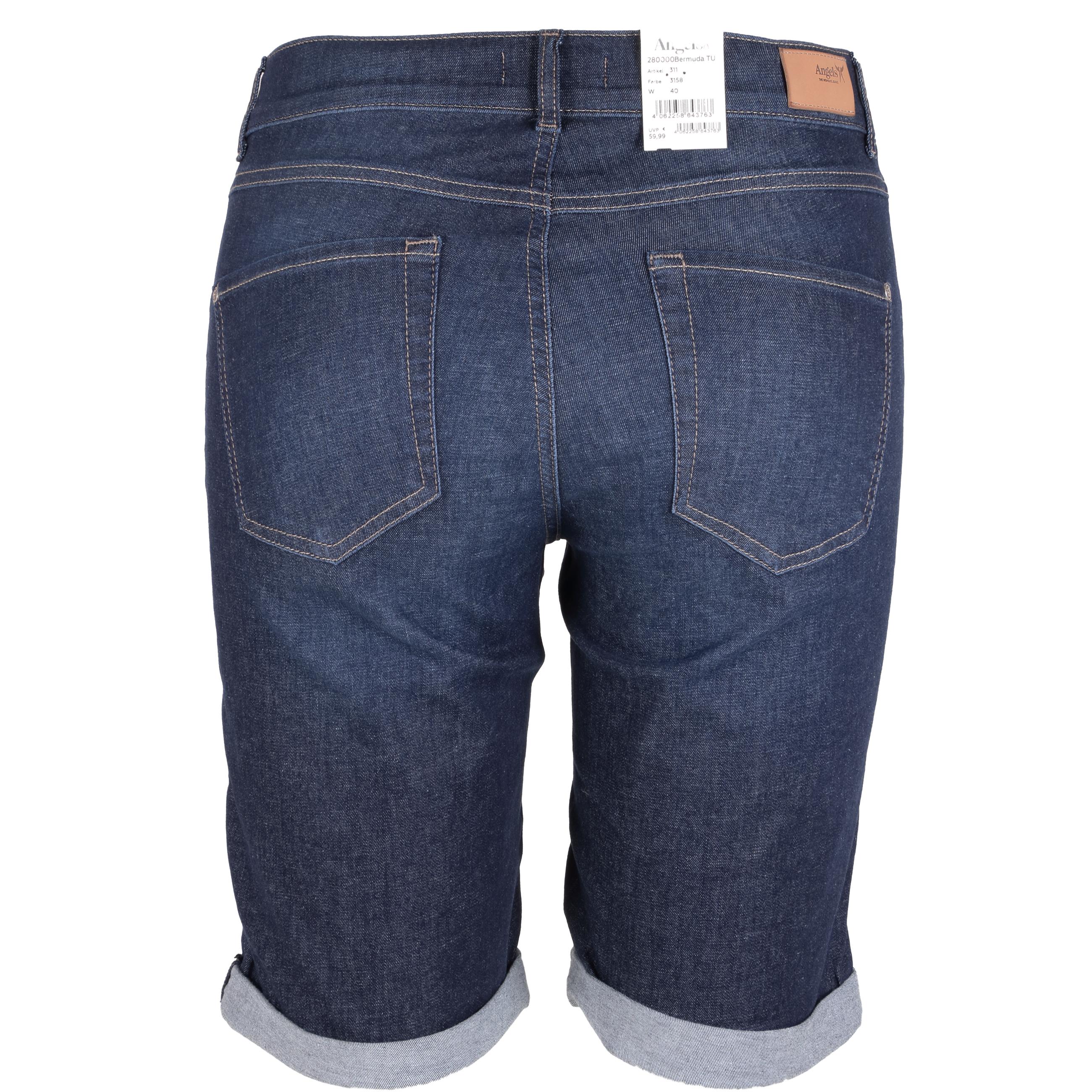 Angels Damen Bermuda Shorts TU 36 dunkelblau