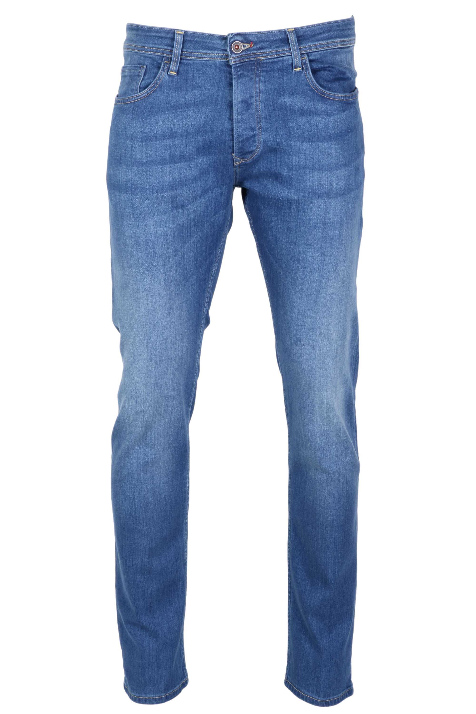 Salsa Herren Jeans Lima Tapered - mid blue