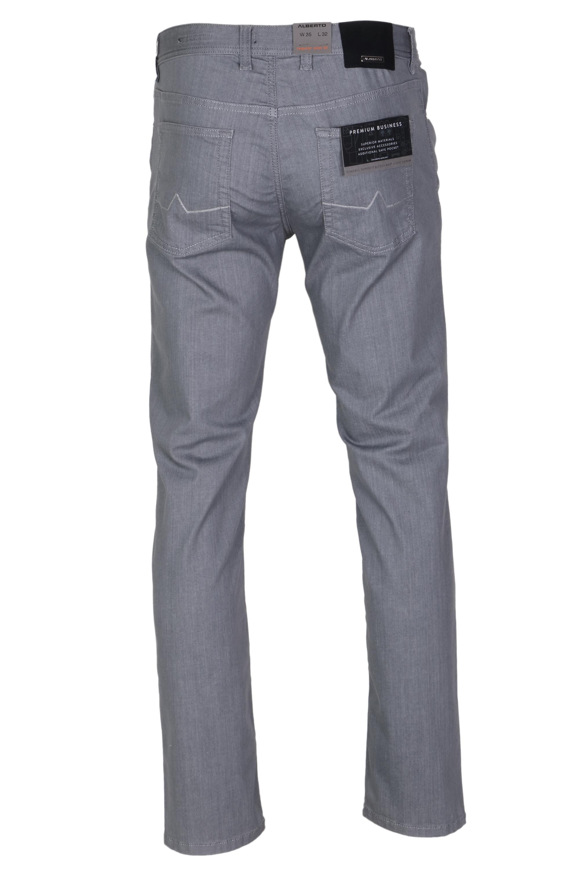 Alberto Herren Jeans Pipe leichte Qualität - silbergrau