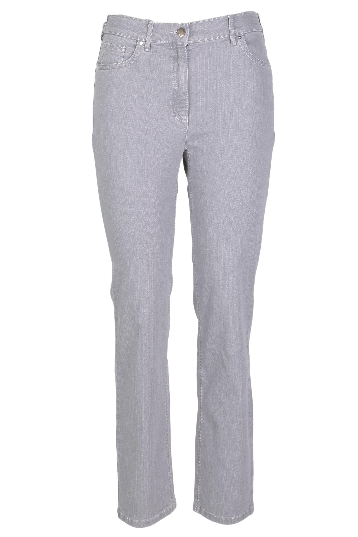 Zerres Damen Jeans Greta sommerliche Qualität - hellgrau 44