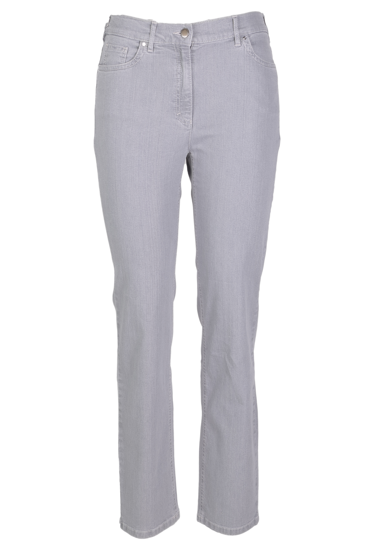 Zerres Damen Jeans Greta sommerliche Qualität - hellgrau