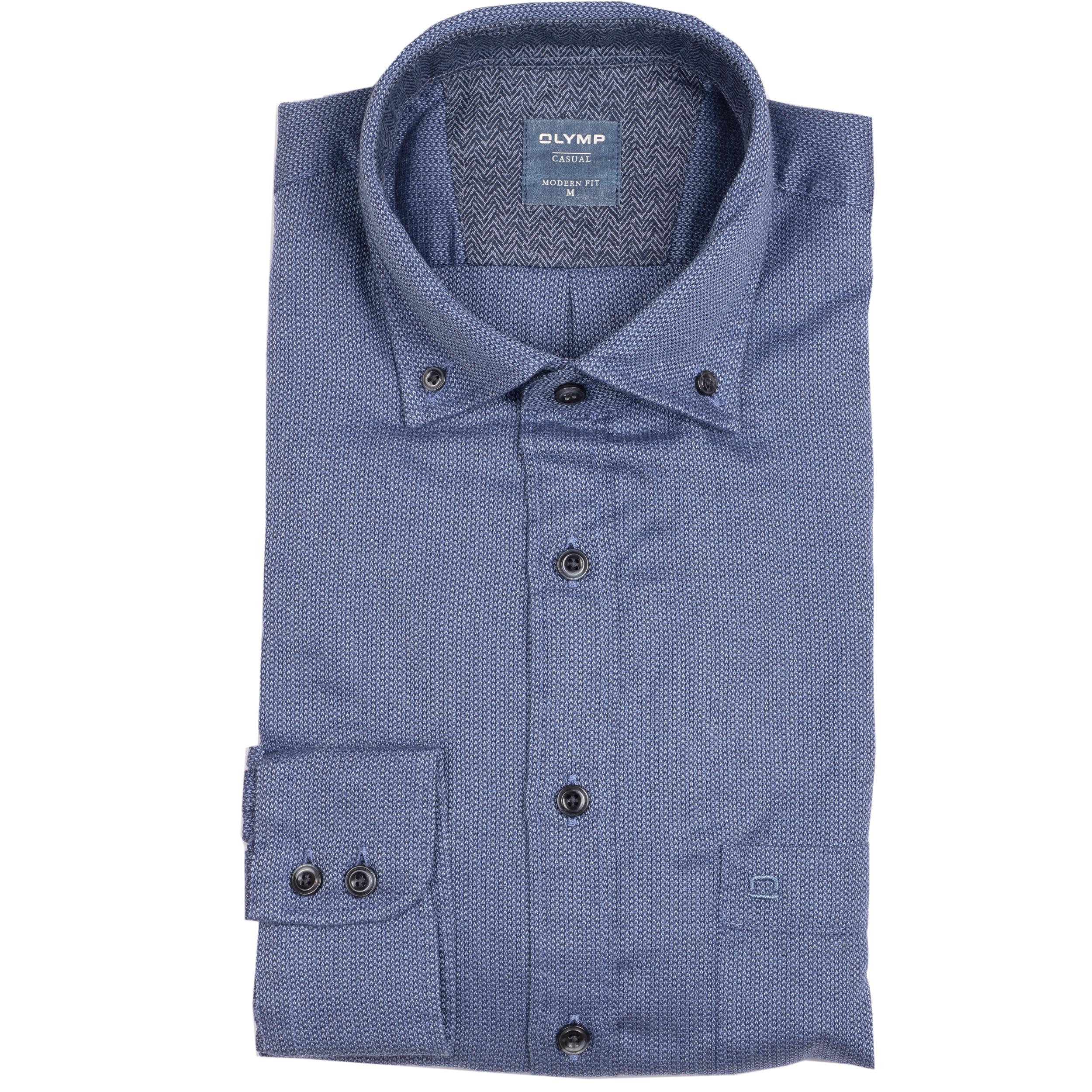 Olymp Hemd Casual modern fit - blau L