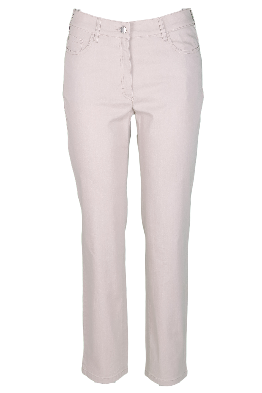 Zerres Damen Jeans Greta sommerliche Qualität - beige