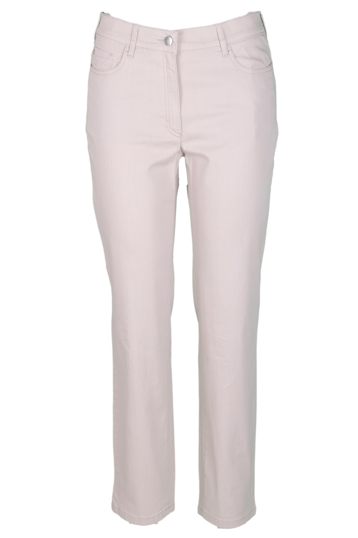 Zerres Damen Jeans Greta sommerliche Qualität - beige 40