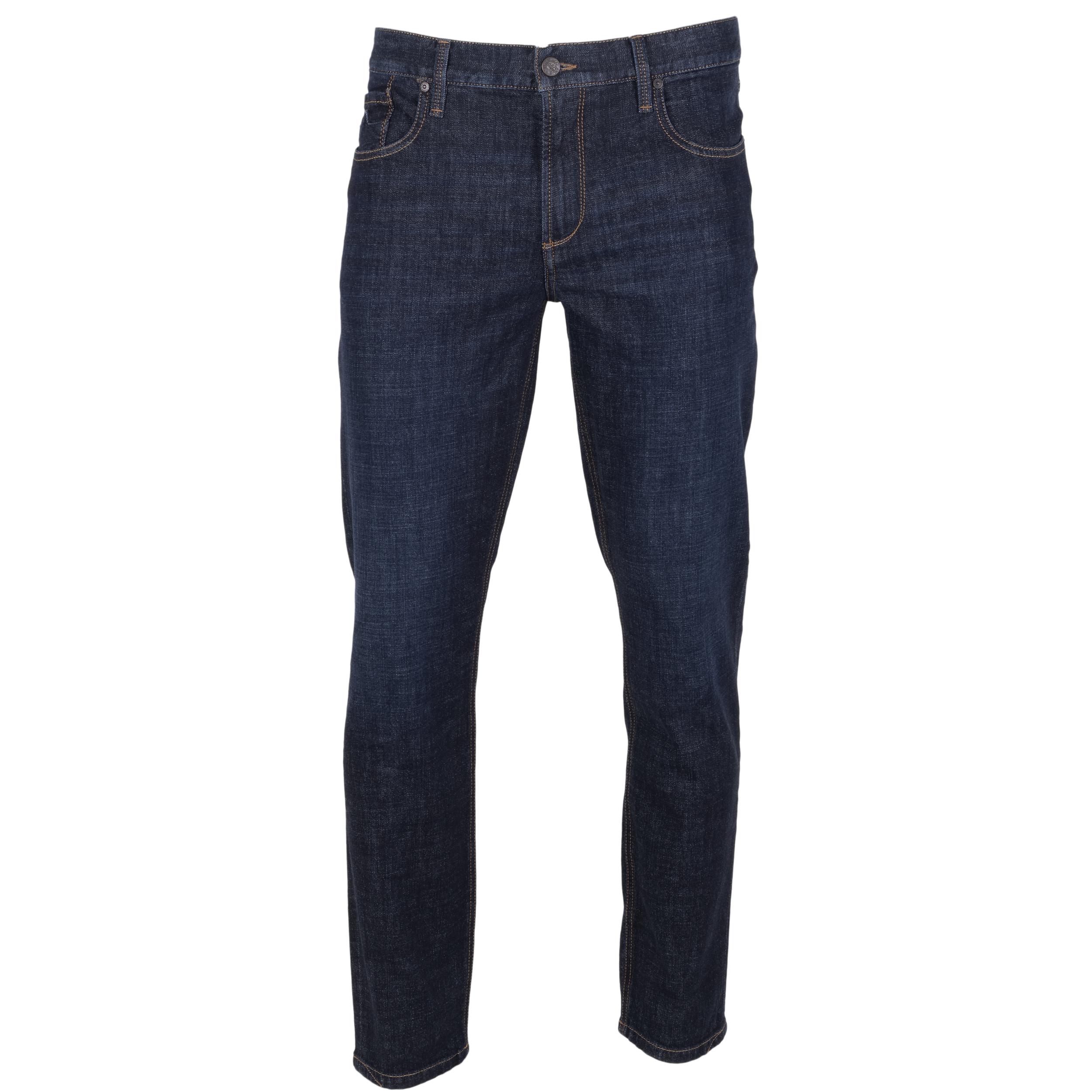 Alberto Herren Jeans Slipe tapered - navy 36/34