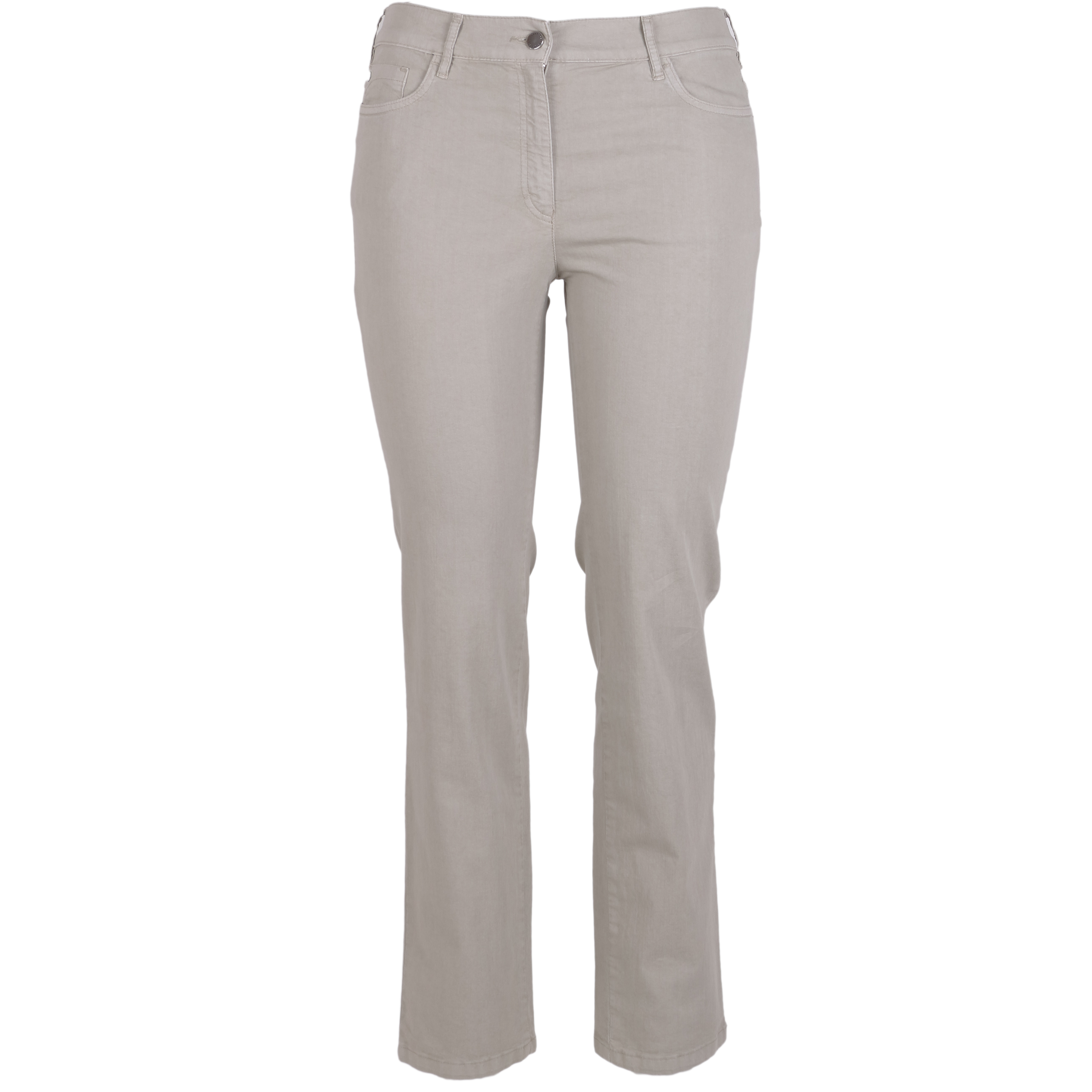 Zerres Damen Jeans Greta sommerliche Qualität - khaki