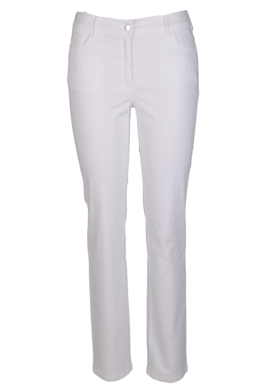 Zerres Damen Jeans Greta sommerliche Qualität - weiß 42