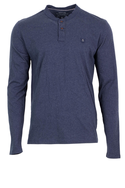 Salsa Herren Henley Shirt langarm - dunkelblau M